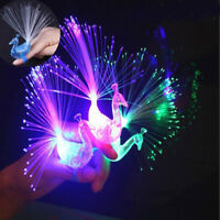 5X/SET Finger Light Up Ring Laser LED Party Rave Favors Glow Beams Peacock