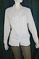 UN JOUR AILLEURS T 50  Superbe chemise manches longues blanc beige GRANDE TAILLE