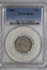 1886 Liberty Nickel 5c XF40 PCGS Five Cent United States Mint Coin