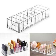 8 Slot Clear Makeup Cosmetic Organizer Compact Powder Holder Acrylic Storage Box