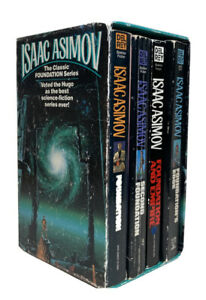 Isaac Asimov Foundation Trilogy Vintage Paperback With Foundation's Edge
