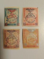 Nouvelle Calédonie Taxe YT 8, 11, 12 et 14 (YT 12 aminci)