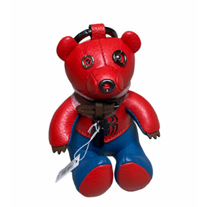 Coach Marvel Spider-Man Collectible Bear Bag Charm Key Chain Ring 2751