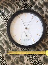 Beautiful Thomas O'Brien Vintage Modern Wall Clock Wood Frame Black Works Great