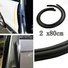 "2 x80cm B"" Shape Rubber Trim Seal Strip Car Door Edge Protector Weather strip"