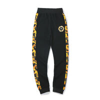 Men's A Bathing Ape Bape Shark Head Camo Black Loose Casual Sports Long Pants