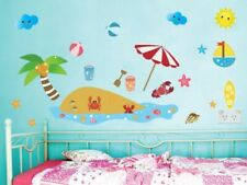 Beach Wall Stickers / Decors, Removable Fabric Stickers