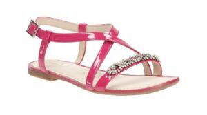 Clarks Summer Breeze Sandals Fuschia Patent Leather sz 6