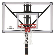 """Silverback Sbx 54"""" In-Ground Basketball Hoop with Adjustable-Height Backboard"""