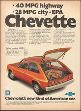 1973 Vintage ad for Chevette Price Photo Red Hatch Back Retro Car  (051417)