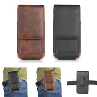 PU Leather Case Cover Pouch Flip Belt Holster Clip for Universal Smart Phones