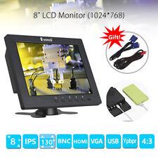 S801C 8 pouces TFT LCD HD Moniteur vidéo HDMI YPbPr BNC pour de sécurité CCTV A2