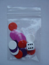 6 Packs of Counters and Dice, Tiddlywinks, total 96 (15mm) counters & 6 dice