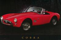 POSTER: TRANSPORTATION:  COBRA -  RED - FREE SHIPPING !  #24-784    RC54 J