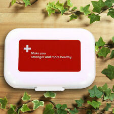 8 Slots Pill Medicine Tablets Box Case Holder Organizer Travel Storage Box#