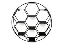 Black Metal Round Retro Wall Display Hexagon Cut Shelve Retro Storage Shelf Rack