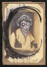 GUS FINK Art outsider ORIGINAL goth lowbrow helnwein antique THE WESTERN WITCH