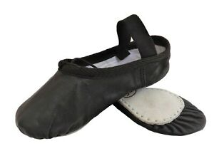 Ballet Shoes Full Sole Leather  Black