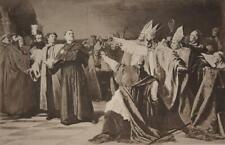 Martin Luther and the Council of Worms Engraving Art Original Printed 1894