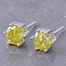 HOT SALE 9K White Gold Filled Green Cubic Zirconia Stud Earrings F548