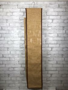 Vintage MCM FS Original Brown Leather Shoe Organizer Hanging 10 Compartments