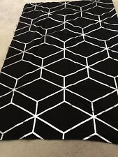 Black silver grey pattern soft blackout material remnant crafts fabric piece