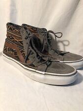 Vans Mid Old Skool DX Woven Casual Sneakers, #721277, Gray/Brown, Men's 10