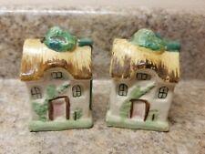 Cottage House Salt & Pepper Shaker Set Ceramic Japan