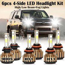 9005+H11+H11 2940W total CREE LED Combo Headlight Conversion Kit Hi/Lo+Fog Light
