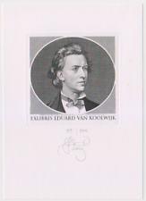 Exlibris from Lembit Löhmus - Portrait of Chopin