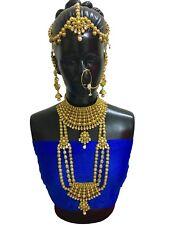 Indian Bollywood Style Full Wedding Fashion Bridal Gold Plated 8 Pcs