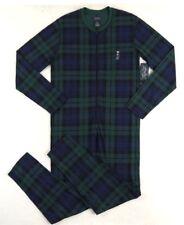 Ralph Lauren Polo Bear Holiday Tartan Plaid One PC Classic Union Suit Pajamas S