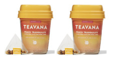 Teavana Lot of 2 Peach Tranquility Herbal Tea  30 bags Free Shipping
