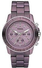 Fossil | Damenuhr | Stella CH2747 | Sport Chronograph Aluminium lila