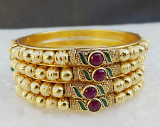 Indian Ethnic Bollywood Gold Plated UK Fashion Jewelry Bangles Bracelet Set 2.8*