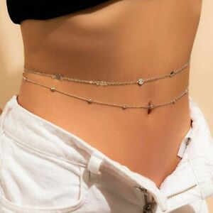1pc Aesthetic Beads Belly Chains Thin Link Waist Chain Women Fashion Body Jewelr