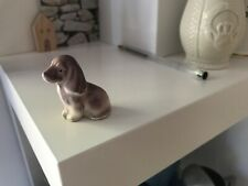 Vintage Cocker Spaniel Puppy Dog Figurine Miniature china. Long ears. Purple.