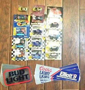 Vintage Racing Champions 1/64 Diecast lot 14-cars & 14-Bumper Stickers (RC-FL-1)