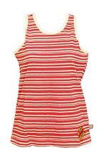 Girls Pink White Pretty Butterfly Stripe Cotton Sleeveless Top T-shirt 4-5 Years
