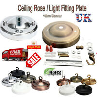 108mm Ceiling Rose Hook Plate Ceiling Light Fixture Chandelier 5 Colour Finishes