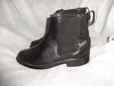 FLORSHEIM MEN BLACK LEATHER PULL ON ELASTICATED ANKLE BOOT SIZE UK 9 EU 43 VGC