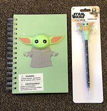 Disney Star Wars The Mandalorian Journal Diary & Topper Pen Baby Yoda The Child