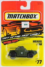 Matchbox MB 77 Military Tank Weasel New On Card 1996
