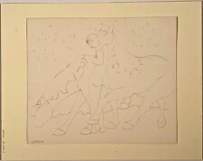 Listed Artist Stanley Boxer (1926-2000) Signed Pencil On Paper Horse & Rider #1