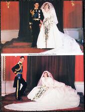 PRINCESS DIANA & PRINCE CHARLES POSTER PAGE . 1981 ROYAL WEDDING . LADY DI c