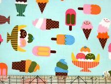 Robert Kaufman Confections Ice Cream Aqua Fabric BHY