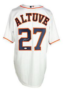 Jose Altuve Signed Houston Astros White Majestic Cool Base Baseball Jersey JSA