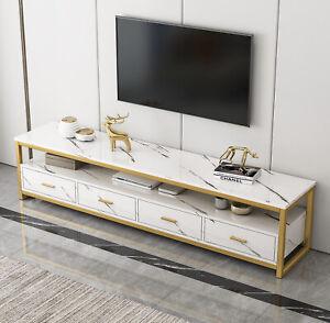 Synergy Luxury Designer Marble TV Cabinet (White)