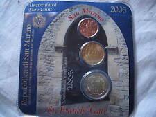 Minikit 2005 San Marino 2 Cent - 20 Cent - 2 Euro in Blister