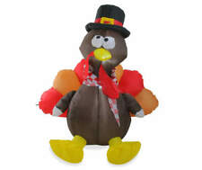 Airblown Inflatable Turkey 6 Ft Yard Outdoor Light Up Thanksgiving Gemmy NEW